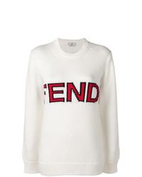 Jersey oversized estampado blanco de Fendi