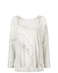 Jersey oversized estampado blanco de Raquel Allegra