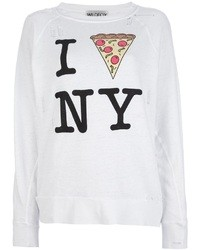 Jersey oversized estampado blanco de Wildfox Couture
