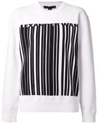 Jersey oversized estampado en blanco y negro de Alexander Wang