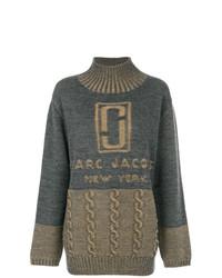 Jersey oversized estampado en gris oscuro de Marc Jacobs