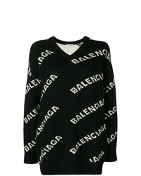 Jersey oversized estampado en negro y blanco de Balenciaga