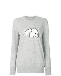 Jersey oversized estampado gris de Loewe