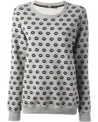 Jersey oversized estampado gris de Markus Lupfer