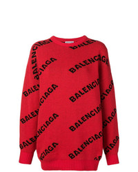 Jersey oversized estampado rojo de Balenciaga