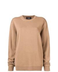 Jersey oversized marrón claro de Dsquared2
