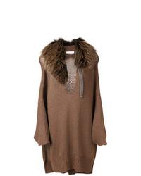 Jersey oversized marrón de Fabiana Filippi