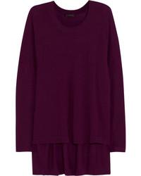 Jersey oversized morado oscuro
