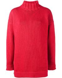 Jersey oversized rojo de Alexander McQueen
