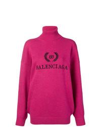Jersey oversized rosa de Balenciaga