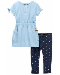 Leggings de Estrellas Azul Marino