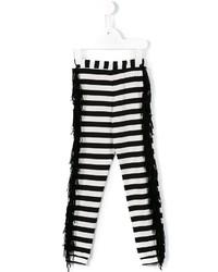 Leggings de rayas horizontales blancos