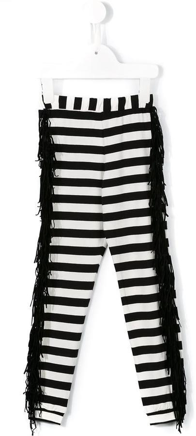 Leggings de rayas horizontales en blanco y negro