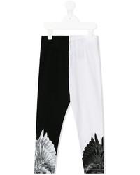 Leggings estampados en negro y blanco