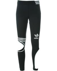 Leggings Estampados Negros y Blancos de adidas
