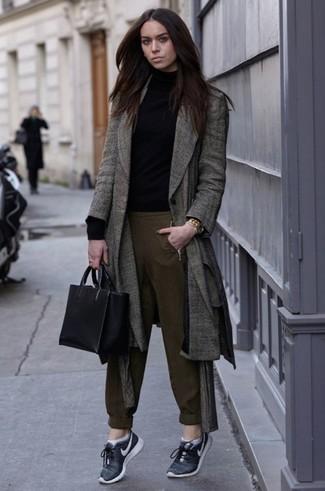 Cómo Un Chándal Pantalón Tweed Gris Abrigo Con 1 De Combinar vrIwHxv