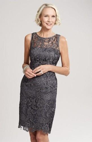 58863115a Cómo combinar un vestido tubo en gris oscuro (34 looks de moda ...