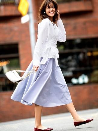 Una falda campana de vestir con una camisa de vestir blanca (11 ... d9a9a368dc577