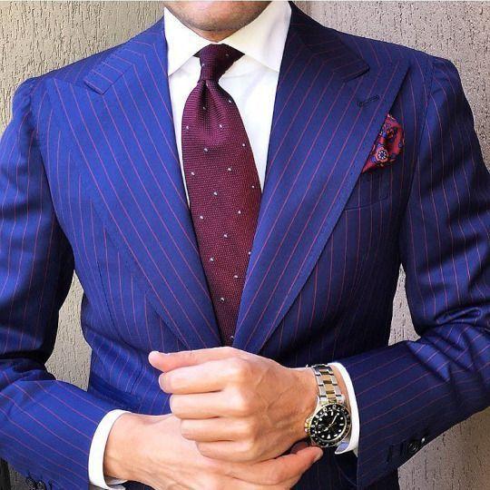 1f57833fb285d Cómo combinar un blazer de rayas verticales azul (57 looks de moda ...
