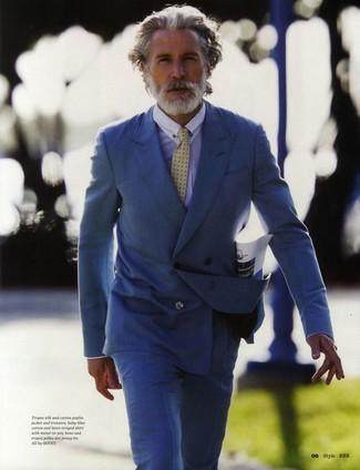 Blazer cruzado azul camisa de vestir celeste pantalon de vestir azul large 2176