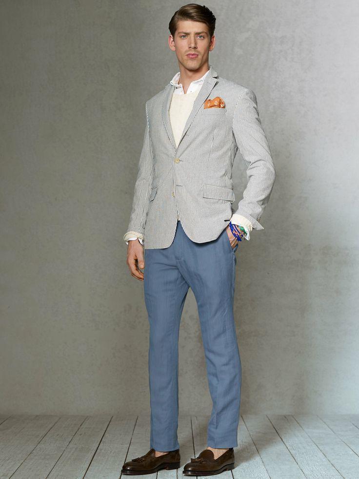 verticales Blazer de Jersey de gris con rayas Look moda cuello xqEw1fX1Z