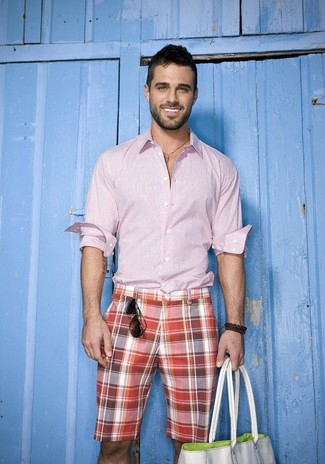Pantalones cortos de tartán rojos de Publish