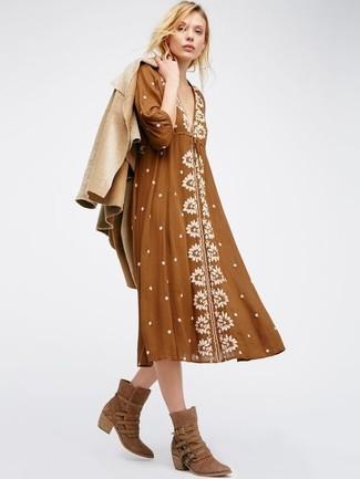 c2f4bf07964 ... Look de moda  Botas camperas de ante marrónes