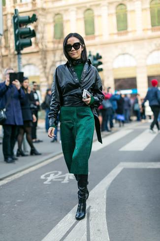 Chaqueta para combinar con vestido verde