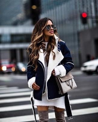 b57d551ee41 Vestido jersey de punto blanco de Maison Margiela