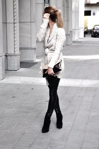 Cartera sobre de cuero en negro y blanco de Off-White