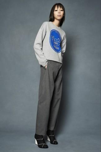 Jersey estampado gris de MSGM