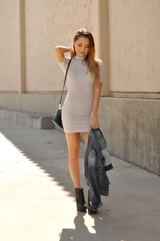 69a7d1f991 Cómo combinar un vestido gris (358 looks de moda)