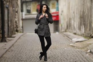 Botines de cuero negros de Bella Vita