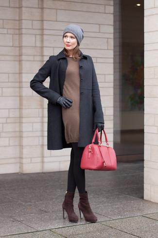Un Jersey De Vestido En Looks Combinar Otoño 2019 9 Cómo Marrón TgqRxp