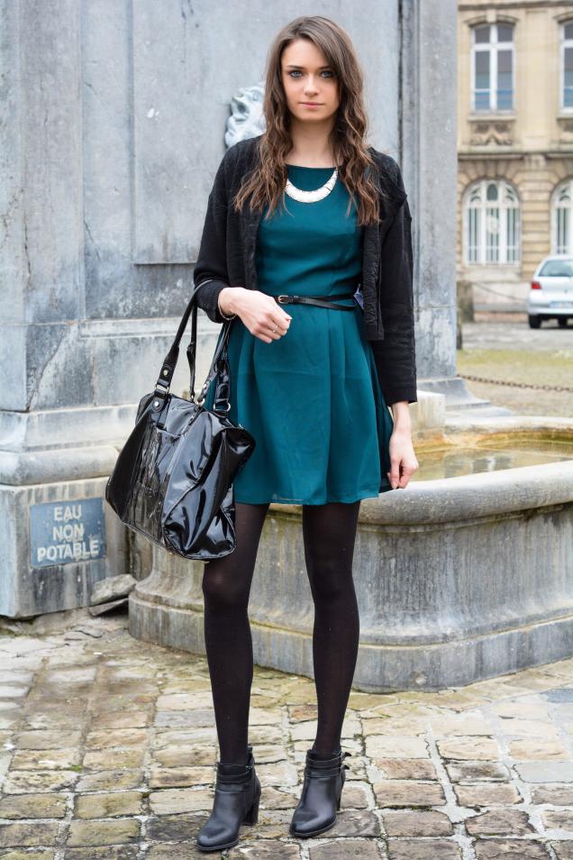8dd5de4d3 Look de moda  Bolsa tote de cuero negra