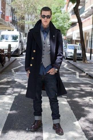 Chaleco de vestir de lana gris de Brunello Cucinelli
