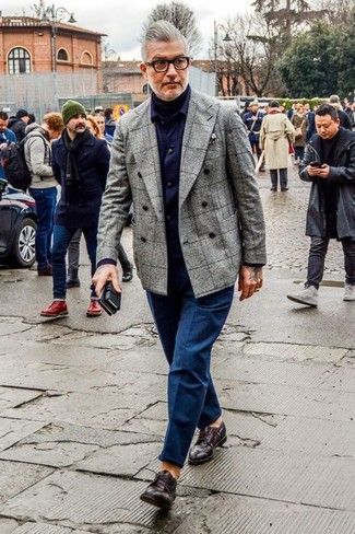Zapatos derby de cuero en marrón oscuro de Premiata