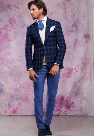 Pantalón de vestir azul de Haggar
