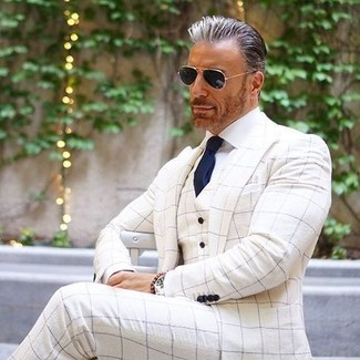 buscar oficial buen servicio amplia selección de colores y diseños Cómo combinar un blazer blanco para hombres de 50 años (6 ...