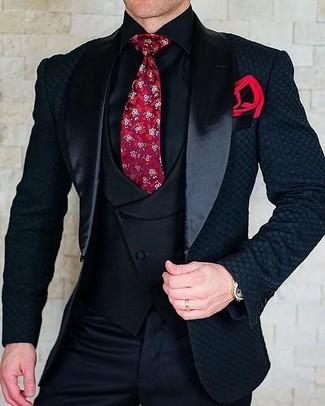 Chaleco de vestir negro de Paolo Pecora
