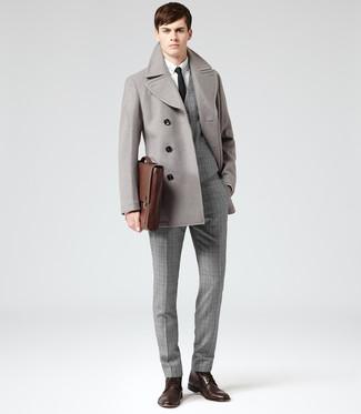 Chaquetón gris de Comme Des Garcons Homme Plus