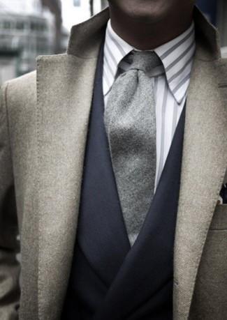 Blazer en gris oscuro de D'urban