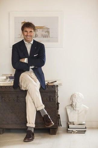 Jersey con cuello circular gris de Dolce & Gabbana