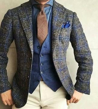 Chaleco de vestir vaquero azul marino de Wrangler