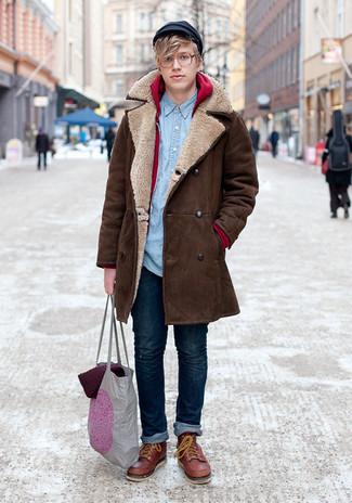 Abrigo largo marrón de London Fog
