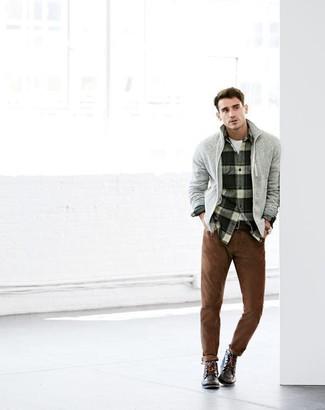 Pantalón chino marrón de Aspesi