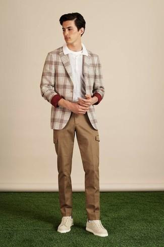 Pantalón cargo marrón claro de Haggar