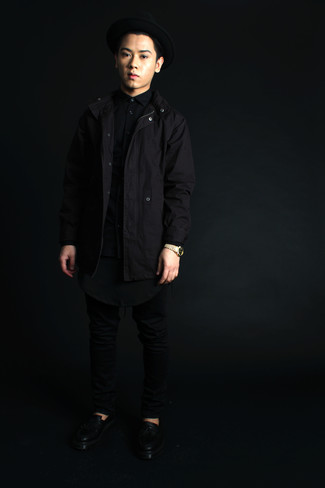 Parka negra de Alpha Industries