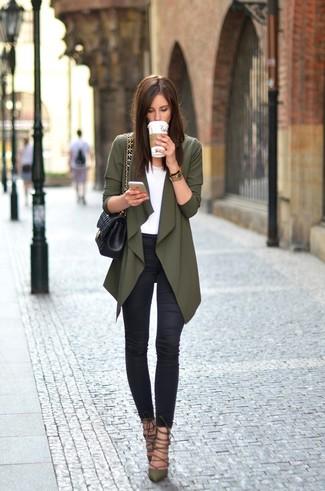 Zapatos verde oliva para mujer DJGfV