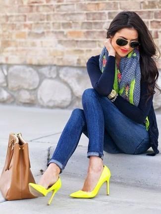 Zapatos azul marino Totes para mujer bXHqhR
